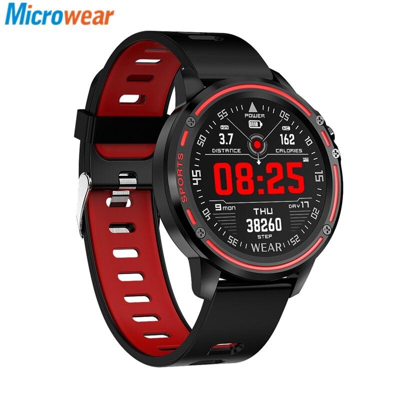 Microwear L8 Voll-Touchscreen Smartwatch EKG + PPG O2-Monitor IP68 Sportmodus Bluetooth Musiksteuerung Wetter Push Smart Watch Fitness Tracker Anruferinnerung Männer Frauen