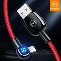 MCDODO автоматическое отключение светодиодный светильник для iPhone зарядное устройство кабель USB шнур кабель передачи данных для быстрой зарядки для iPhone XR XS Max 8 7 Plus - фото