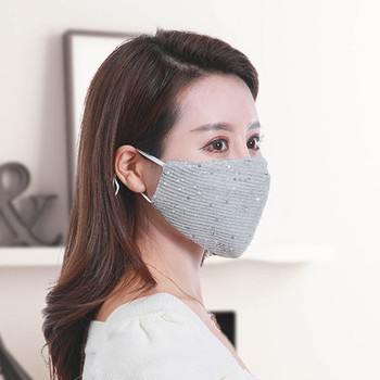 woman cloth mask washable sequin colored masks protective face fashion luxury design adjustable masque facial mouth nose cover