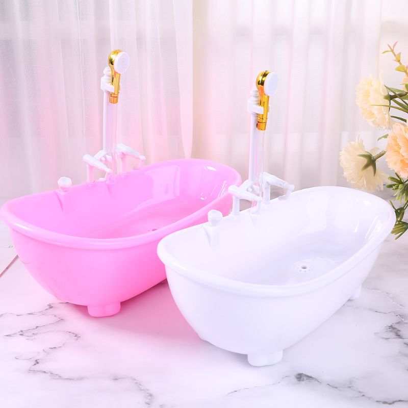 1/6 Electric Bathtub Furniture Bathroom Accessories Miniatures Dollhouse Kids Pretend Toy