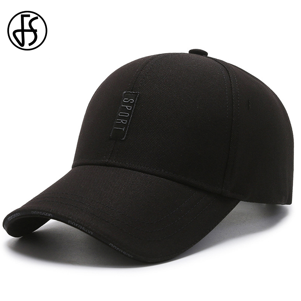 FS Autumn Outdoor Sports Baseball Cap For Women Men High Quality Cotton Black Gray Middle-aged Dad Hat Snapback Caps 2021