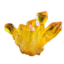 Natural Citrine Cluster Crystal Original Stone Degaussing Stone Fish Tank Stone Feng Shui Small Ornaments(China)