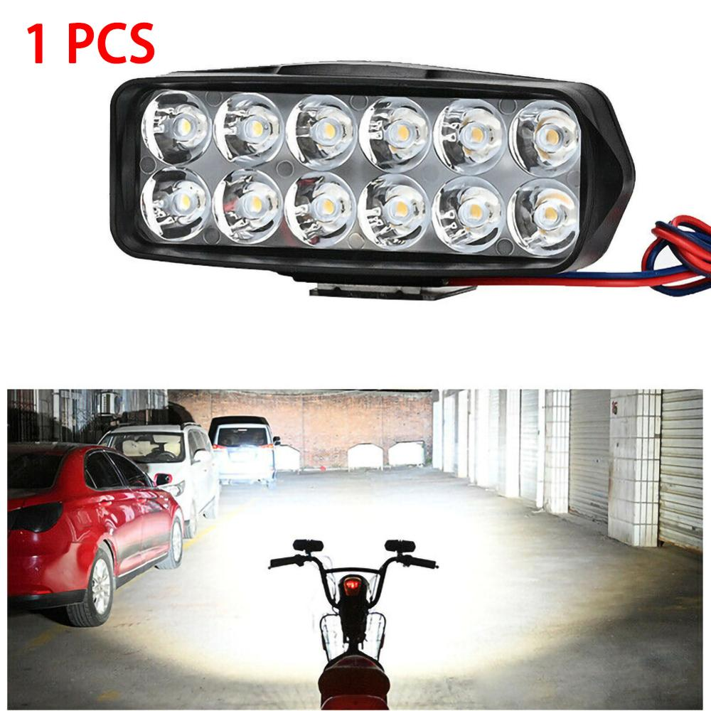 1Pc 12LED Headlights 12-24V For Auto Motorcycle Truck Boat Tractor Trailer Offroad Working title=