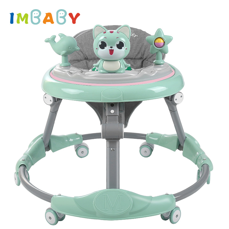IMBABY New Baby Walker 6-Speed Adjustment Multi-Function Anti-Rollover Anti-O-Legs Men And Women Toddler Walker