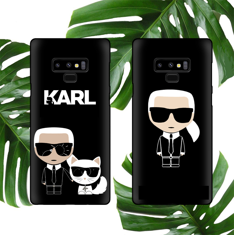 Karl Soft Case For Samsung Galaxy S8 S9 S10 Plus S10e Note 8 9 10 Pro Phone Cover Silicone Fashion designer Coque Fundas Cases