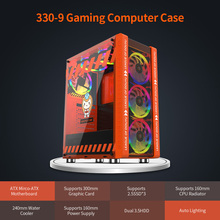 Game-Chassis Case Computer-Case Gaming MICROE Pink/orange Water-Cooler ATX 240mm Host-Supports