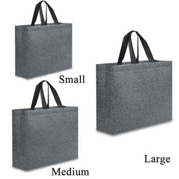 Large size Reusable Shopping Bag Grey Foldable Eco Bag Women Travel Storage Tote Shopper Bag Female Canvas Shopping Bags