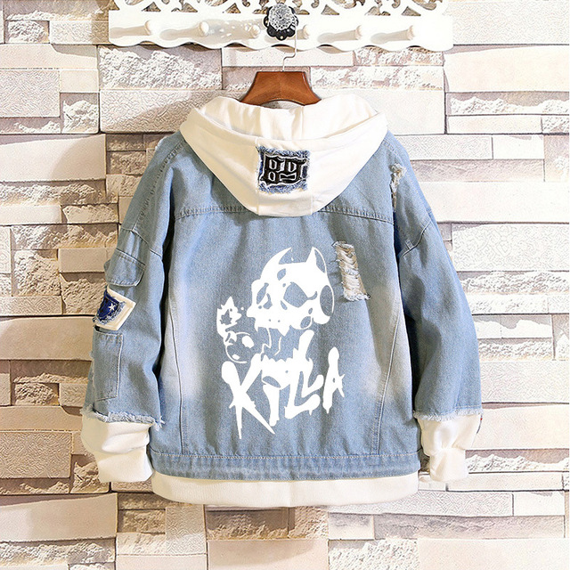 JoJo's Bizarre Adventure Boys denim jacket Unisex Jeans Jacket Stardust Crusaders Long Sweatshirt Harajuku Streetwear Hoodies 3