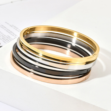 ZMZY 4mm Luxury Fashion Classic Women's Bangles For Women Gold Rose Gold Silver Color
