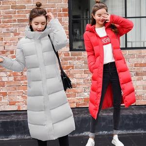 Image 2 - ドロップシッピングダウンジャケット2019ファッション女性の冬のスリム厚みのウォームジャケットダウン綿パッド入りのジャケット生き抜くパーカー