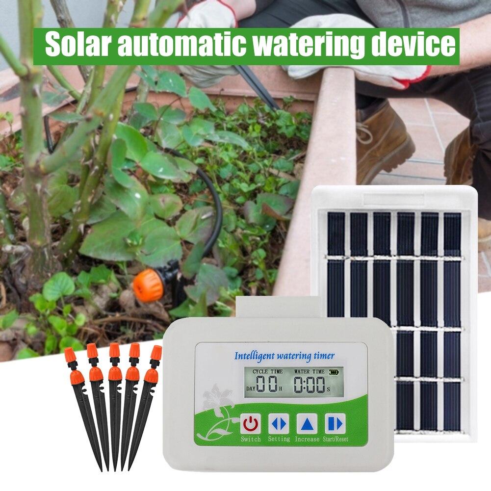 Solar Automatische Bewässerung Gerät Garten Sprinkler Rasen Bewässerung Tropf Garten Anlage Wasserpumpe Intelligente Timer System