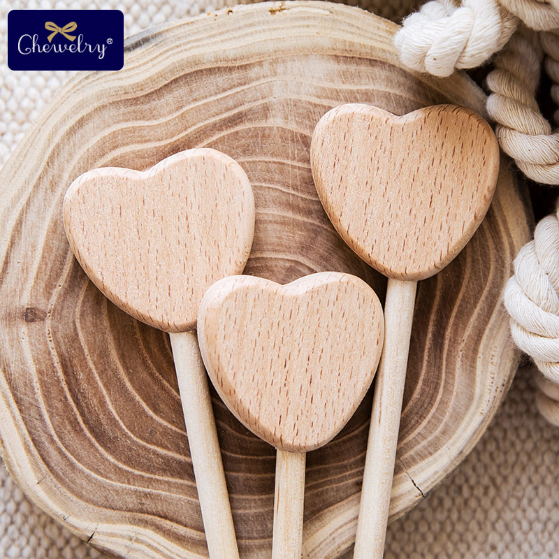 2PC Beech Wooden Star Blocks Moon Toys Custom logo DIY Baby Magic Sticks Rodent Waldorf Rodent Toy Play Gym Toys For Kids Goods | Happy Baby Mama