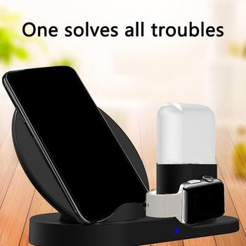 Fast 3 in 1 Wireless Charger For Iphone X XS MAX XR 8 Fast Charging Dock Station For image
