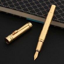 Marca de luxo metal 1200 caneta caneta alívio retro dragão dourado elegante escritório negócios material escolar escrita