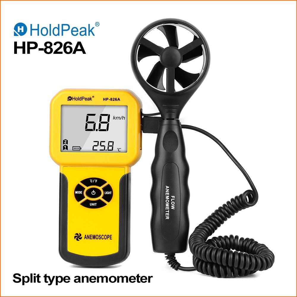 HoldPeak Anemometer Digital Wind Speed Meter 0~30m/s Air Volume Thermometer Wind Sensor Meter