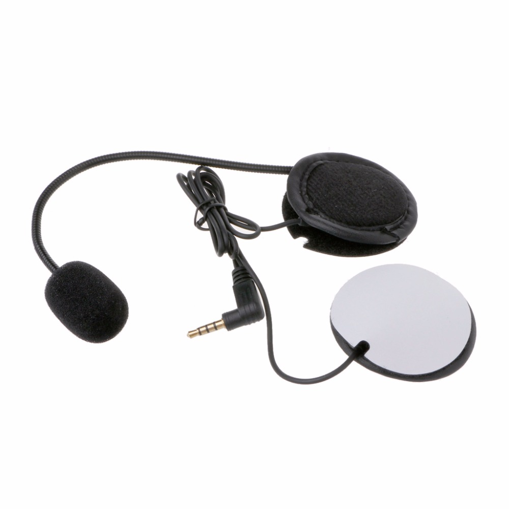 Microphone Speaker Soft Cable Headset 3.5mm Jack Plug No Clip For V4 V6 Motorcycle Helmet Bluetooth Interphone Intercom Headset