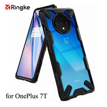 Ringke Fusion X for Oneplus 7T  Case Dual Layer PC Clear Back Cover and Soft TPU Frame Hybrid Heavy Duty Protection Camo Color