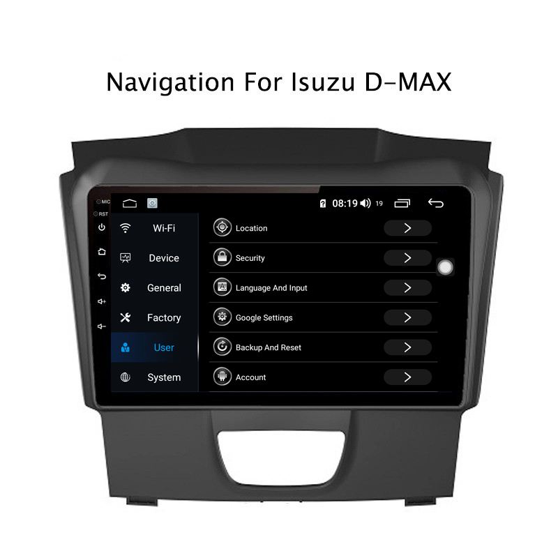 Sale Ectwodvd 9inch Andriod 8.1 Car DVD GPS For Isuzu D-MAX DMAX 2015-2018 4G RAM 64G ROM CarPlay DSP 4G LTE with WIFI 3
