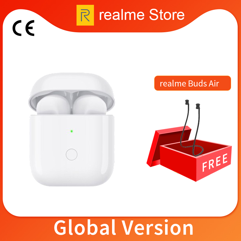 Gloabl Version OPPO Realme Buds Air Wireless Earphones Bluetooth TWS True Wireless Charing For Realme X2 Pro X50 Pro 6 6i