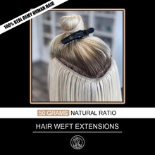 Hair-Extensions Bundles Weft Human-Hair Platinum European Remy Real Straight Weave Blonde