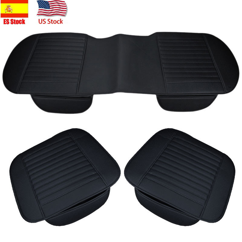 US Stock 5 Seat Car Seat Covers Front/&Rear Seat Cushion Mat PU Leather Universal
