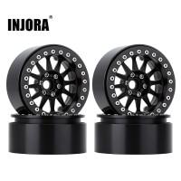 "INJORA 4PCS 2.2"" Metal Beadlock 12-Spokes Wheel Rim for RC Crawler Car Traxxas TRX4 TRX6 Axial SCX10 90046 RR10 Wraith 1"