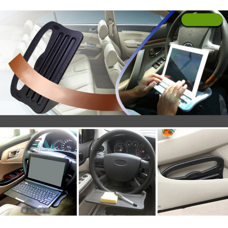 1pc Steering Wheel Tray Portable Practical Laptop Tray for Notebook Tablet