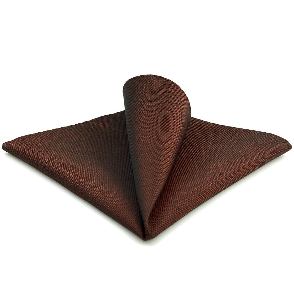 FH32 Solid Maroon Pocket Square Hanky Party Handkerchief Large 12.6