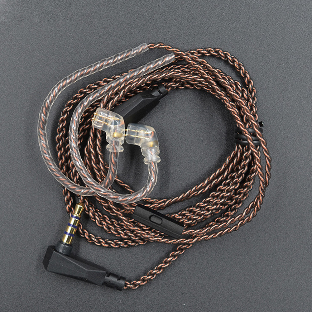 Stable <font><b>0.75mm</b></font> <font><b>2</b></font> <font><b>Pin</b></font> Dedicated L Plug Accessories Copper Plated Upgrade Sound Audio Earphones <font><b>Cable</b></font> Replacement Wire For KZ ZS5 6 image