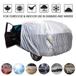 Universal SUV/Limousine Volle Auto Abdeckungen Im Freien Wasserdichte Sonne Regen Schnee Schutz UV Auto Regenschirm Silber S-XXL Auto Fall abdeckung