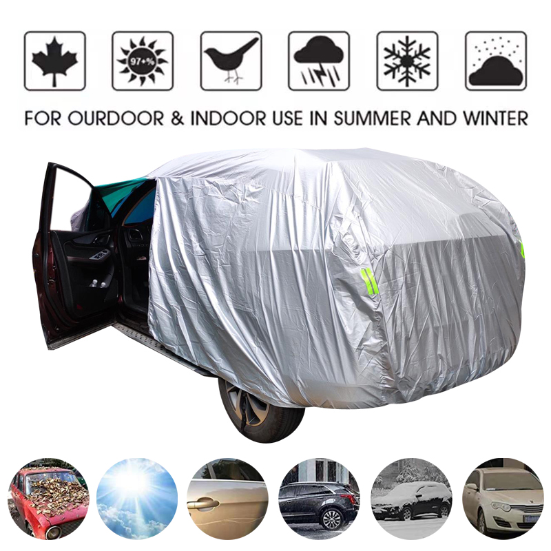 Snow-Protection Umbrella Auto-Case-Cover Silver Waterproof Outdoor Universal Sun-Rain