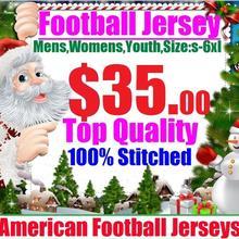 35 на заказ, Майки для игры в американский футбол, Майки Дешевые, Аутентичные, спортивные, для колледжа, командные, цветные, для мужчин, женщин, молодежные, 4XL, 5XL, 6XL