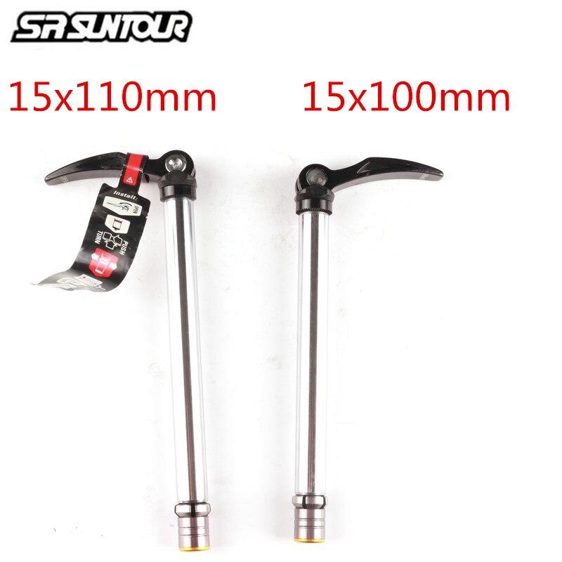 SR Suntour Front Fork 100x15mm 110x15mm Barrel SHAFT Fixing Quick Release Lever Bicycle Mountain MTB Fork Bike Repair Accessor