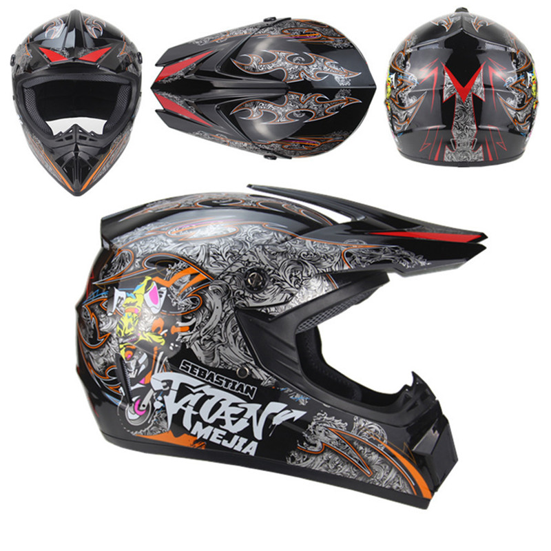 Motorcycle Full Covered Helmet Unisex Helmet Outdoor Riding Helmet Motorcycle Adult Motocross Off Road Racing Helmet