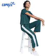 COPOZZ  Female Yoga Set Sportswear gym clothing Running Sport Suit Shi