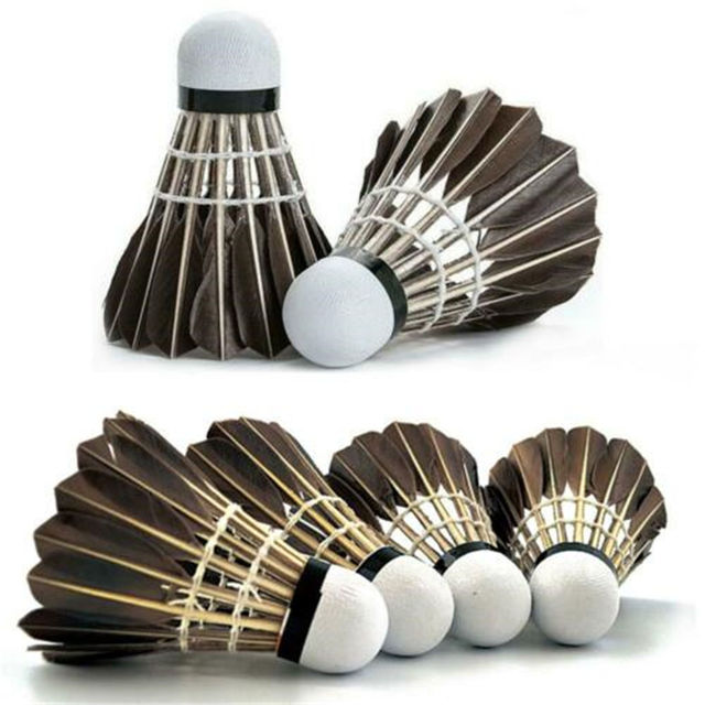 12 Pcs Black Goose Feather ball Durable Training Badminton Professional Outdoor Badminton Sports Fitness Accessories