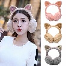 Winter Ear Earmuffs Ear-Cover Warmer-Accessories Plush Girls Women Outdoor Skiing Adjustable