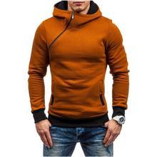 Модные зимние утепленные толстовки с капюшоном, Брендовые мужские повседневные куртки на молнии с высоким воротником, пальто с длинными рукавами и принтом