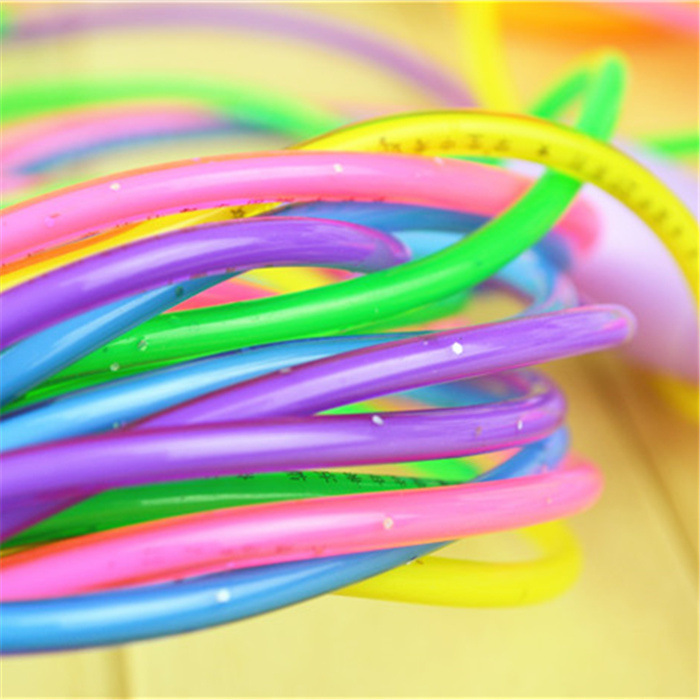 Colorful Crystal With Diamond Flash Children Color Students Jump Rope Cartoon Sports Exercise Training Rope
