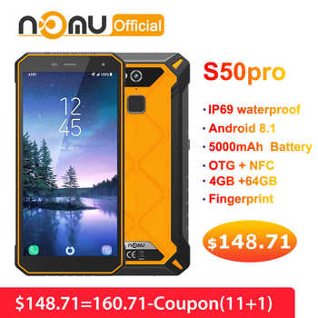 """Nomu S50 Pro 2019 Smartphone Android 8.1 IP69 IP68 Waterproof Shockproof Mobile Phones 5.72\"""" HD 8MP+16MP NFC Fingerprint+Face ID - Category 🛒 Cellphones & Telecommunications"""