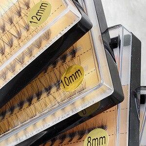 Image 1 - 3 linie jedwabne norek pojedyncze rzęsy Flare natura długie rosnące przedłużanie rzęs uroda narzędzia do makijażu