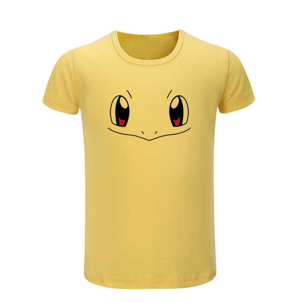 Cute Pokemon Charmander Charizard Pikachu Bulbasaur Squirtle Pattern Kids T-shirts Childs Graphic Tee Shirts Tops Christmas Gift