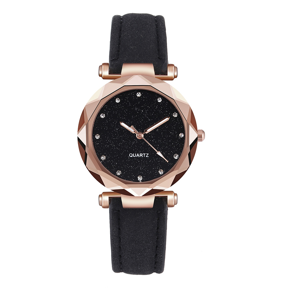 Women Watches Leather Rhinestone Quartz Classic Ladies Watch Womens Crystal Wristwatch Saati Relojes Mujer 2019 Relogio Feminino