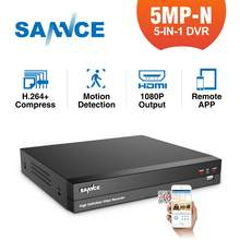 SANNCE 5MP-N 8CH HD Video Surveillance DVR 5IN1 H.264+ Digital Recorder Motion Detection For 2MP 3MP 5MP IP CCTV Cameras