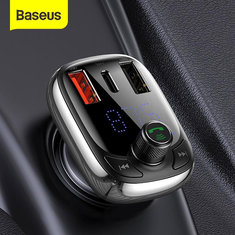 Baseus fm-передатчик Bluetooth 5,0 Handsfree Car комплект аудио MP3 плеер с PPS QC3.0 QC4.0 5A быстро Зарядное устройство авто FM модулятор