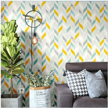 Multicolor Herringbone Peel and Stick Wallpaper Self-Adhesive Prepasted Contact Paper Wall Mural For Living Room Home Decortion
