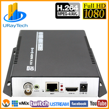 MPEG 4 H.264/AVC 1080P 1080I HDMI + Stéréo Audio + Vidéo CVBS Encodeur RTMP RTSP Flux IP Encodeur IPTV Soutien NTSC PAL