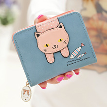 Cute Cat Tassel Womens Mini Leather Wallet Coin Purses Ladies Wallets Money Bag Female Card Holder Small Wallets Women Purse 2016 fashion women wallets pu leather tassel female wallet ladies bronzing cat ears clutches new brand card holder women purses