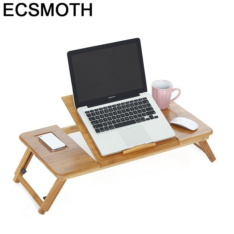 Bed Schreibtisch Support Ordinateur Portable Escritorio De Oficina Bamboe Stand Laptop Bedside Tablo Desk Study Computer Table