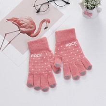 Touch Screen Girl Female Stretch Knit Gloves Knitted Gloves